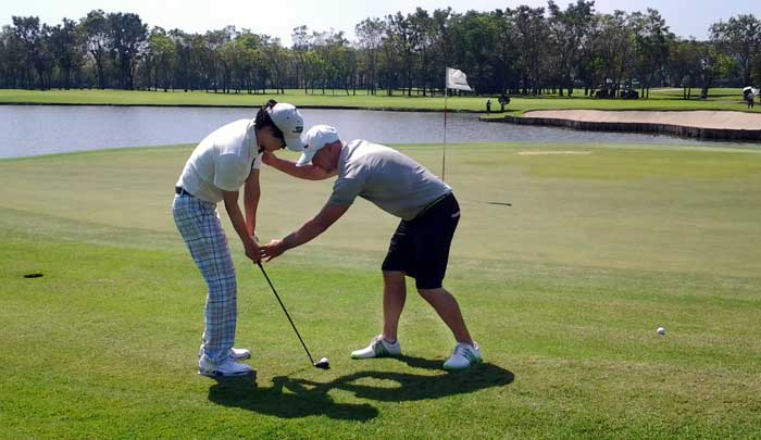 On-cource golf lessons Bangkok