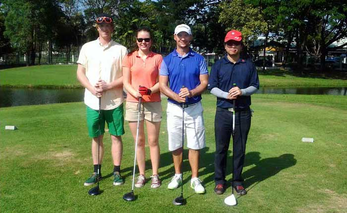 Golf students in Bangkok